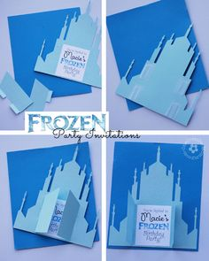 Create these unique Frozen Birthday Party Invitations with a free Silhouette Cutting File {Printable file for non-Silhouette users is includ...