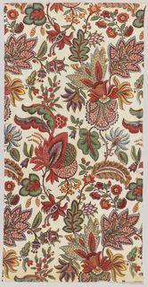 Textile (France), late 18th century Medium: cotton Technique: block printed on plain weave foundation. Accession #1973-51-106