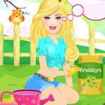 Everybody thinks of Barbie as a girl who doesn't like to do much other than her hair and makeup, but this Barbie enjoys nothing more than going outside and making sure her garden is tidy – she also likes to grow her own vegetables. http://www.fashiondollsgames.com/6-Barbie-Gardening-Expert.html
