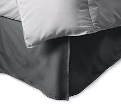 """Bed&Linen New Collection 300 Thread Count 100% Egyptian Cotton Solid Elephant Grey Full XL Bed Skirt with 14"""" Drop Length, http://www.amazon.com/dp/B00PSHVNPQ/ref=cm_sw_r_pi_awdm_qLU7vb1AFR7XN"""