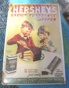 Items similar to Hersheys Vintage Magnet Ad - Hersheys Chocolate ad magnet -refrigerator magnet on Etsy Hershey Chocolate, Chocolate Factory, Magnets, Ads, Handmade Gifts, Vintage, Kid Craft Gifts, Craft Gifts, Vintage Comics