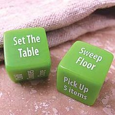 Toss a Chore Dice in Fall 2012 from Chinaberry