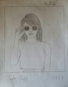 Taylor Swift 1989 Polaroid drawing by Pushpa