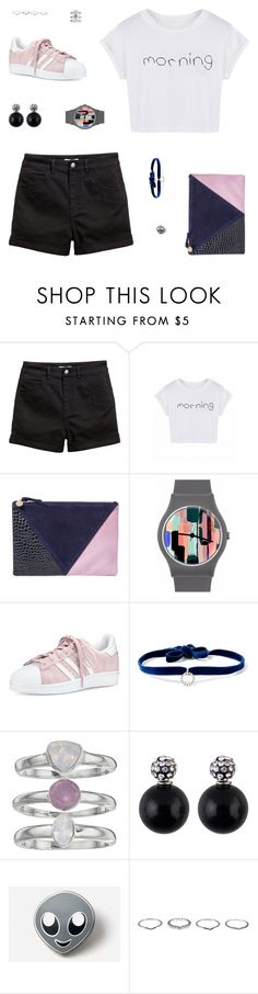 """""""Sunday Mornings"""" by belenloperfido ❤ liked on Polyvore featuring Clare V., May28th, adidas, DANNIJO, Jennifer Lopez, PINTRILL and New Look"""