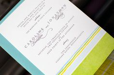 Our hand drawn horizon lines invitations play with color and texture like only letterpress can! Featuring overprinted colors in a variety of palettes, you can pick and choose the combination of ink co