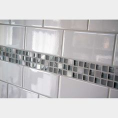 Manhattan Cream Subway Tile - The Manhattan Wall Tile Series, with its hand-crafted look and feel is intended for interior walls. Surface and glaze irregularities add to its appeal. White Subway Tile Bathroom, Beveled Subway Tile, Subway Tile Showers, White Subway Tile Backsplash, Splashback Tiles, Subway Tile Kitchen, Kitchen Backsplash, Subway Tiles, Tile Accent Wall