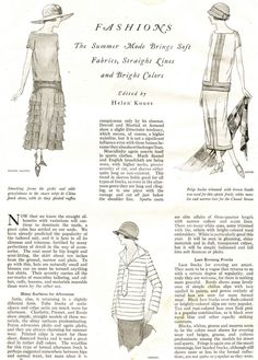 Flapper Era Outfits - 1924 Good Housekeeping Magazine