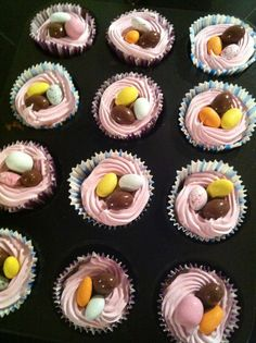 Påske cupcakes
