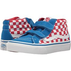 e60ad447e4f96 Vans Kids Reissue V (Little Kid Big Kid) Boys Shoes (Checkerboard) Racing  Red Imperial Blue