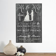 Mr. & Mrs. Wedding Plaque
