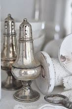 silver salt & pepper shakers