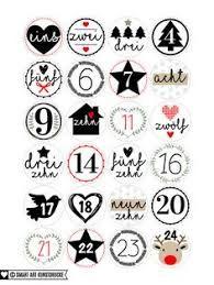 Adventskalender Zahlen Ausdrucken Karácsony Advent Calendar