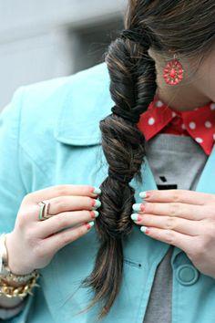{ bohemian braid hairstyle }