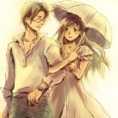 I don't really like the Austria x Hungary pairing, but this pic is really cute of them! :)