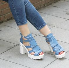 Thick White Heels Summer Women's Shoe Models - Women-Kalın Beyaz Topuklu Yazlık Bayan Ayakkabı Modelleri – Women Shoes Fashion Thick white heels summer women's shoes models – women shoes fashion - Summer Shoes, Summer Outfits, Trendy Womens Shoes, White High Heels, Hot Shoes, Women's Shoes, Cute Heels, Latest Shoe Trends, Girls Shoes