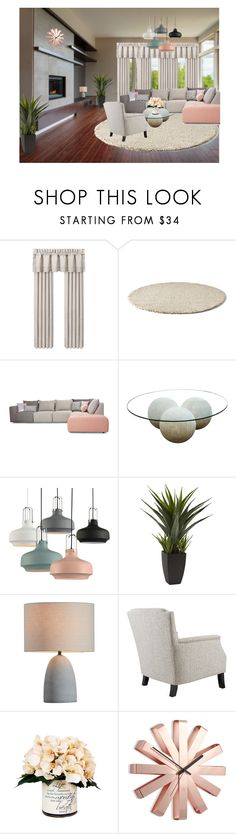 """""""Untitled #419"""" by natasag ❤ liked on Polyvore featuring interior, interiors, interior design, home, home decor, interior decorating, J. Queen New York, CFC, Creative Displays and Umbra"""