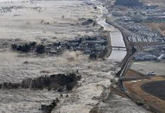 Tohoku-East Japan Great Earthquake March 11, 2011  Tsunami destroying everything