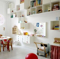 Storage in the playroom.