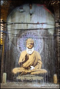 Banksy - Beat Up Buddha