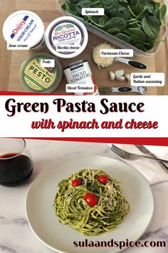 If you're looking to add some veggies to your diet, this pasta sauce is a great choice! The green is all spinach to give you some super plant based nutrition in every bite! The sauce also contains cheese and a little tomato to help balance out the flavor. Call it Hulk or Ninja Turtle pasta and get those veggies into your kids!