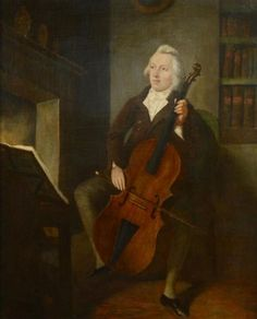 Circle of Francesco Renaldi 1755 - 1798 Portrait of a Young Gentleman Playing his Cello in an Interior