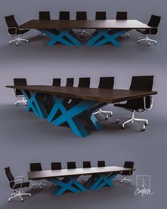 Designed & Fabricated in Illinois by the DiVito brothers. Office Table Design, Modern Office Design, Modern Desk, Timber Furniture, Industrial Furniture, Modern Furniture, Furniture Design, Conference Table Design, Desk Redo