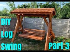 DIY Log Swing  How to Assemble Part 3 Diy School Supplies, Desk Organization, Diy Gifts, Beautiful Homes, Gazebo, Recycling, Craft Ideas, Outdoor Structures, Make It Yourself