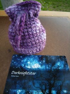 Small crochet pouch/purse/bag purple for by darknightstar on Etsy, $7.50