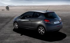 Download wallpapers Peugeot 208, 2018, 3-Door, 4k, exteriors, hatchets, new gray 208, rear view, Peugeot