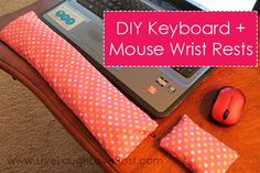 Reduce your stress while typing on your laptop! Give comfort to your wrists by having this keyboard and mouse wrist rests. This is very easy to make.