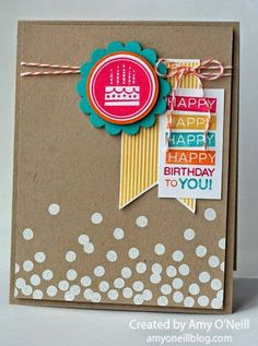 Amazing Confetti Birthday Stampin Up Tarjetas Stampin Up, Tarjetas Diy, Stampin Up Cards, Cool Cards, Diy Cards, Quilling, Karten Diy, Card Making Inspiration, Card Sketches