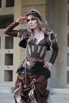 Steampunk Treasure Hunter ~ corset, skirt & jacket.