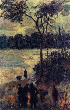 Fire by the water - Paul Gauguin ۞۞۞۞۞۞۞۞۞۞۞۞۞۞ Gaby-Féerie : ses bijoux à thèmes ➜ http://www.alittlemarket.com/boutique/gaby_feerie-132444.html ۞۞۞۞۞۞۞۞۞۞۞۞۞۞