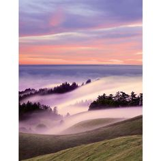 love the colors and the fog coming in through the valleys in Marin