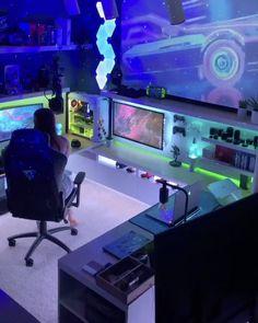 Best Gaming Setup, Gamer Setup, Gaming Room Setup, Cool Gaming Setups, Ultimate Gaming Setup, Laptop Gaming Setup, Pc Setup, Bedroom Setup, Room Ideas Bedroom