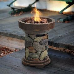 Propane Fire Pit Fountain Torch Gas Heater Pool Deck Patio