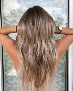 Beautiful Balayage For Fine Hair. I would love to do this natural looking color
