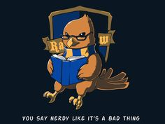The Eagle. Awesome Ravenclaw T-shirt, pinned from teeturtle.com. Comes in women's cut too!  $20.