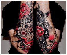 Rose and Thorn Sleeve Tattoo | Rose Tattoos for Men - Ideas and Inspiration for Guys