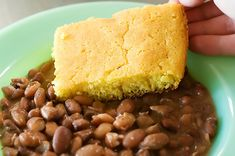 Pretty much how I make Beans and Cornbread. Haven't used the Pinto Bean Seasoning though. Might just look for it..     We eat Pinto Beans and Cornbread with Roy's Grandma's Zucchini Relish.. YUMMMO