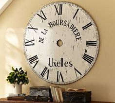 The Graphics Fairy - DIY: DIY Pottery Barn Inspired Clock Face Art