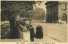 quai Malaquais - Paris 6ème - Le quai Malaquais vers 1910.