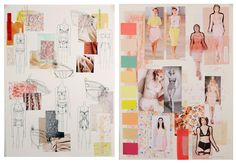 Fashion Sketchbook - fashion design drawings, fashion mood board research & idea development; the design process; contour fashion lingerie design portfolio // Natasha Elliott