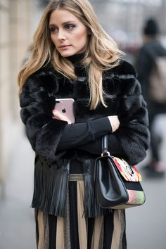 Olivia Palermo seen in the streets of Paris during Haute Couture Spring Summer 2017 Fashion Week on January 25 2017 in Paris France
