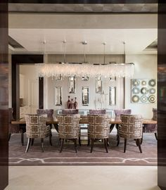 Dining room area wit