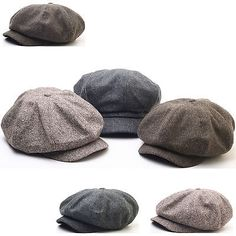39a31833c88 N124 8 Panel Homespun Harris Donegal Tweed Pattern Fabric Newsboy Cap  Gatsby Hat