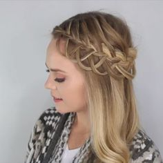 Quick tutorial of the Criss-cross Looped Braid  For the full video, click the link in my bio! #missysueblog #hairstyles #hairvidz