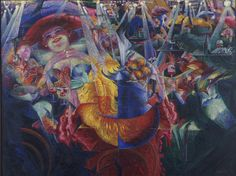 Umberto Boccioni, La risata, 1911. Colore ad olio, 1,10 m x 1,45 m.