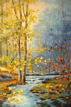 Manhã dourada___ óleo s/ tela 90x60cm www.arteborgmann.blogpost.com