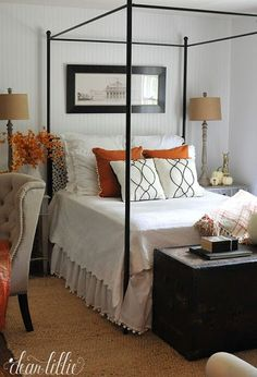 Bedroom decorated for fall from Dear Lillie     Friday Favorites at http://www.andersonandgrant.com